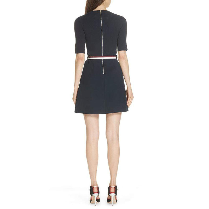 Ted Baker Knitted ELSBETH A Line Floral Brooch Dress $295 - Zoom Boutique Store