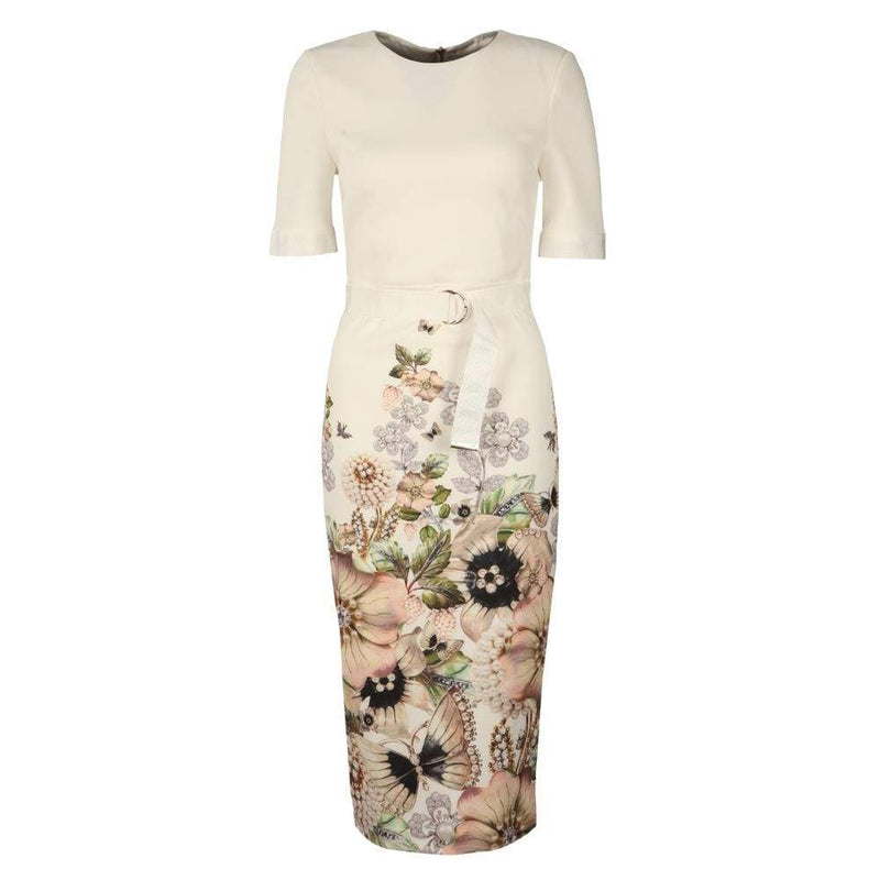 Ted Baker Layli Gem Gardens Crepe Tailored Dress RRP$315 - Zoom Boutique Store