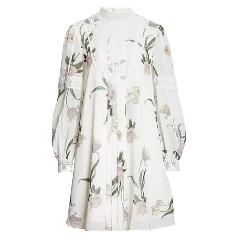 Ted Baker Leyora Floral Lace Banded Cuffs Long Sleeve Dress RRP$329 0 Zoom Boutique Store dress Ted Baker Leyora Lace Banded Cuffs Long Sleeve Dress | Zoom Boutique