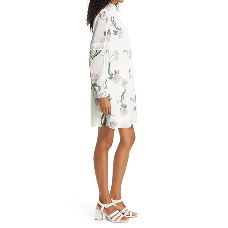 Ted Baker Leyora Floral Lace Banded Cuffs Long Sleeve Dress RRP$329 Zoom Boutique Store dress Ted Baker Leyora Lace Banded Cuffs Long Sleeve Dress | Zoom Boutique