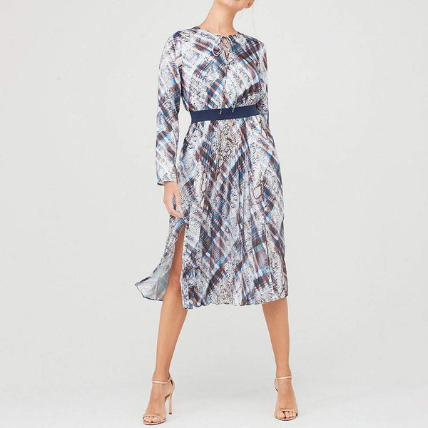 Ted Baker Lilis Quartz Print Midi Long Sleeve Dress $299 0 Zoom Boutique Store dress