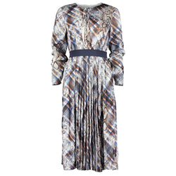 Ted Baker Lilis Quartz Print Midi Long Sleeve Dress RRP$299 - Zoom Boutique Store