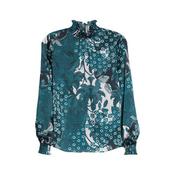 Ted Baker Madrii Rococo Bell Sleeves High Neck Bluzka Koszula 0 Zoom Boutique Store top Ted Baker Madrii Rococo Bell Sleeves High Neck Bluzka | Zoom Boutique