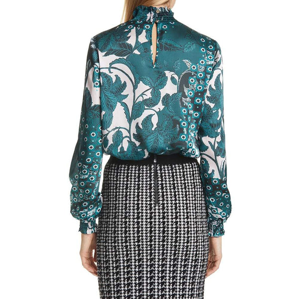 Ted Baker Madrii Rococo Bell Sleeves High Neck Blouse Shirt Zoom Boutique Store top Ted Baker Madrii Rococo Bell Sleeves High Neck Blouse | Zoom Boutique