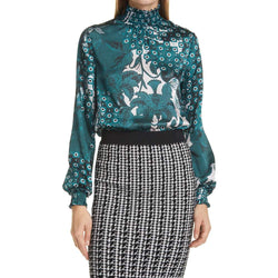 Ted Baker Madrii Rococo Bell Sleeves High Neck Bluzka Koszula Zoom Boutique Store top Ted Baker Madrii Rococo Bell Sleeves High Neck Bluzka | Zoom Boutique