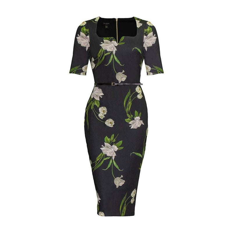 Ted Baker Magieyy Elderflower Bodycon Fitted Midi Dress RRP$267 0 Zoom Boutique Store dress Ted Baker Magieyy Elderflower Bodycon Fitted Midi Dress| Zoom Boutique