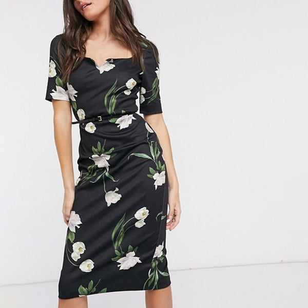 Ted Baker Magieyy Elderflower Bodycon Fitted Midi Dress RRP$267 Zoom Boutique Store dress Ted Baker Magieyy Elderflower Bodycon Fitted Midi Dress| Zoom Boutique