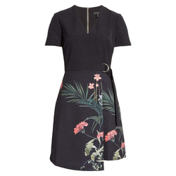 Ted Baker Mizalia Highland V Neck Faux Wrap Dress RRP$245 - Zoom Boutique Store