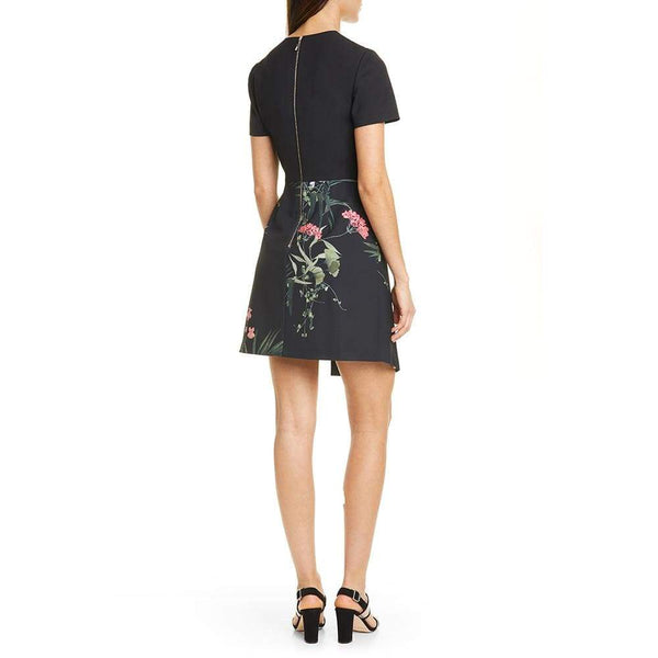 Ted Baker Mizalia Highland V Neck Faux Wrap Dress $245 Zoom Boutique Store dress
