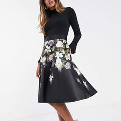 Ted Baker Nerida Opal Full Skirt Fit & Flare Midi Dress RRP$365 - Zoom Boutique Store