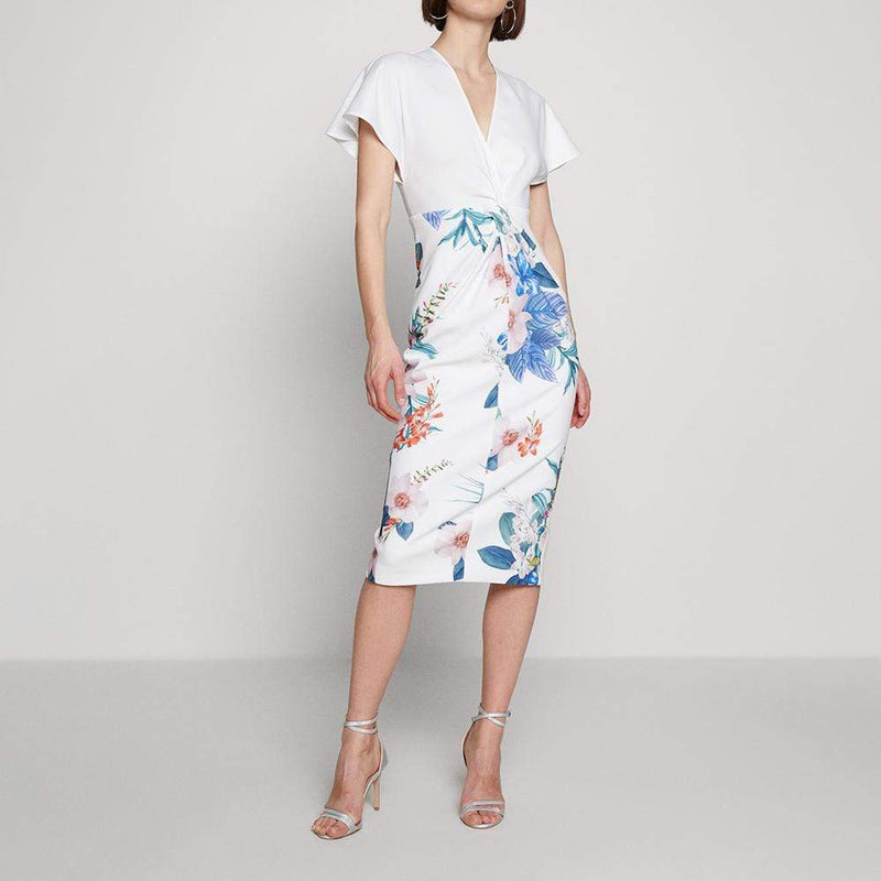 Ted Baker Nerris Jamboree Twist Detail Midi Dress $315 - Zoom Boutique Store