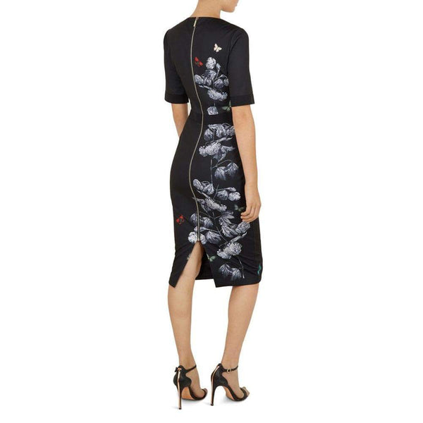 Ted Baker Niliano Narrnia Sheath Bodycon Midi Pencil Dress $315 Zoom Boutique Store dress