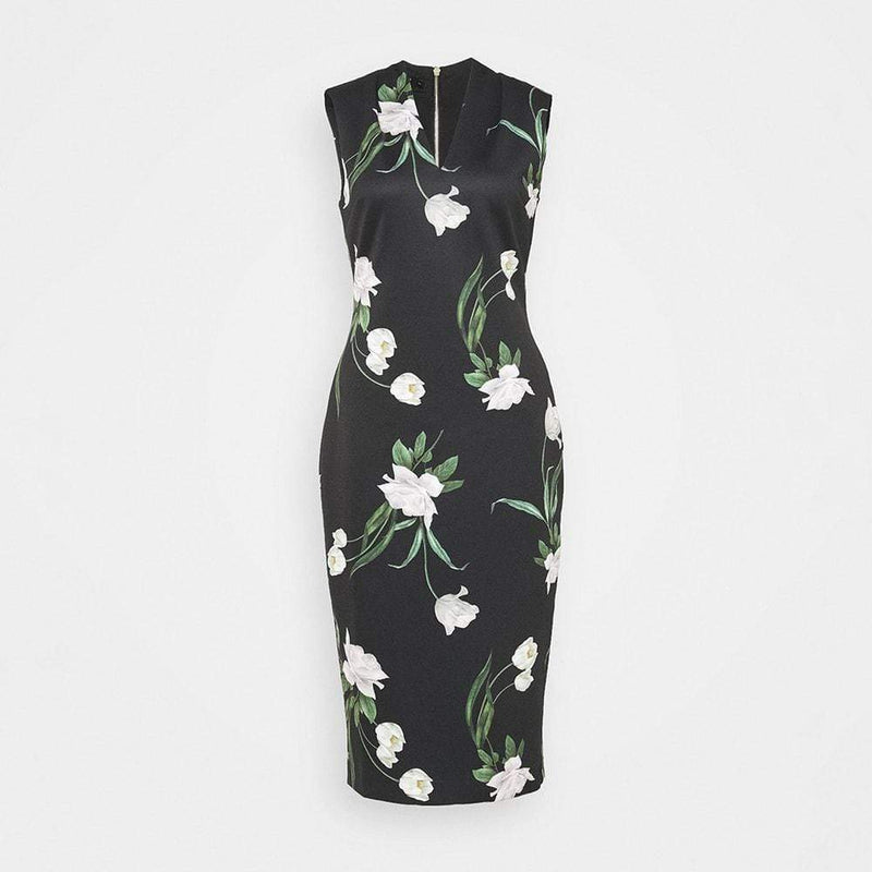 Ted Baker Polliee Elderflower Bodycon Jersey Midi Dress RRP$295 0 Zoom Boutique Store dress Ted Baker Polliee Elderflower Bodycon Jersey Midi Dress| Zoom Boutique
