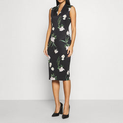 Ted Baker Polliee Elderflower Bodycon Jersey Midi Dress RRP$295 Zoom Boutique Store dress Ted Baker Polliee Elderflower Bodycon Jersey Midi Dress| Zoom Boutique