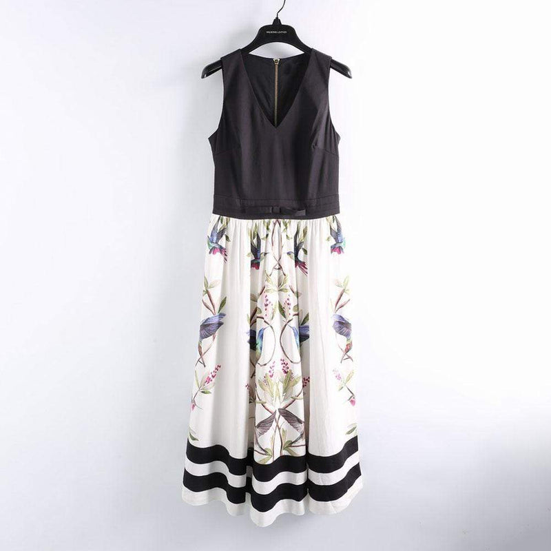 Ted Baker Reice Hummingbird High Grove Midi Dress RRP$349 Zoom Boutique Store dress Ted Baker Reice Hummingbird High Grove Midi Dress | Zoom Boutique