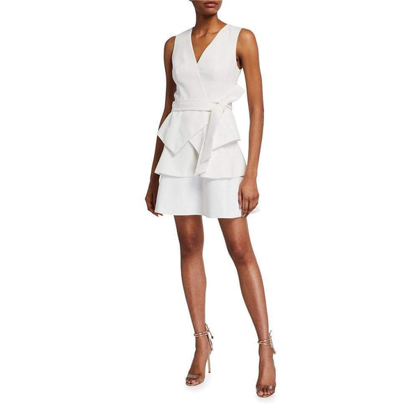 Ted Baker Reinah Tiered Embroidered Mini Wrap Dress $349 Zoom Boutique Store dress