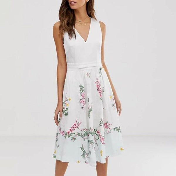 Ted Baker Reyyne Stretch Cotton Fit & Flare Midi Dress Zoom Boutique Store dress Ted Baker Reyyne Stretch Cotton Fit & Flare Midi Dress | Zoom Boutique
