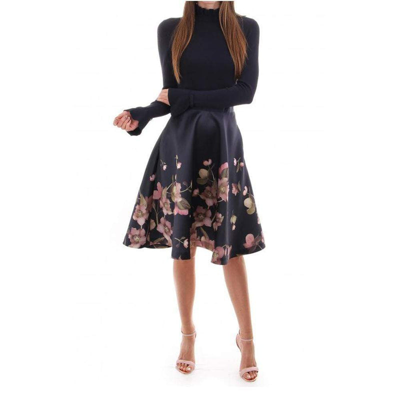 Ted Baker Seema Arboretum Skater Fit & Flare Midi Dress RRP$365 - Zoom Boutique Store