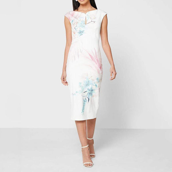 Ted Baker Soozie Serendipity Print Bodycon Midi Pencil Dress Zoom Boutique Store dress Ted Baker Soozie Serendipity Bodycon Midi Pencil Dress | Zoom Boutique