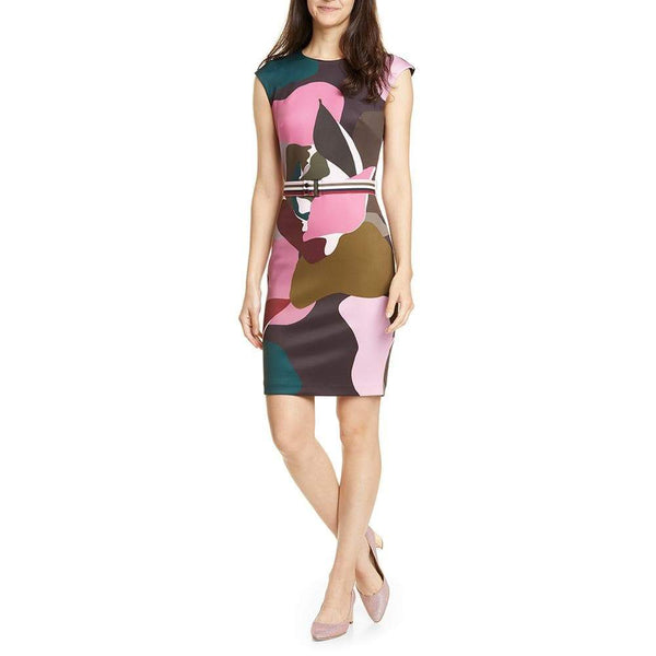 Ted Baker Strawberry Swirl Print Sheath Dress $279 Zoom Boutique Store dress