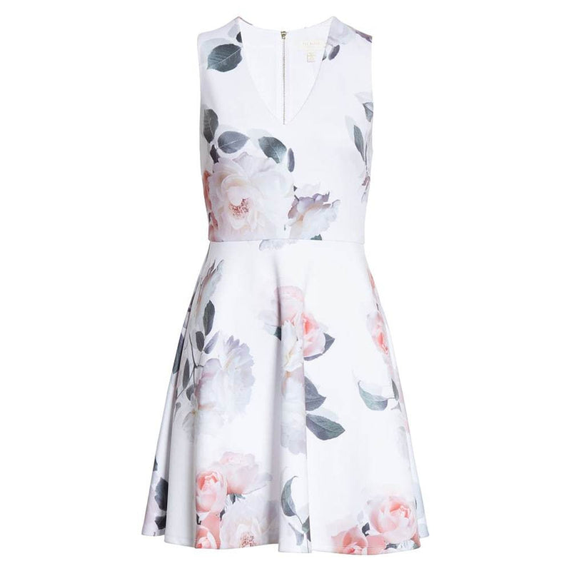 Ted Baker Twiggi Bouquet Floral Skater Dress 0 Zoom Boutique Store dress Ted Baker Twiggi Bouquet Floral Skater Dress | Zoom Boutique