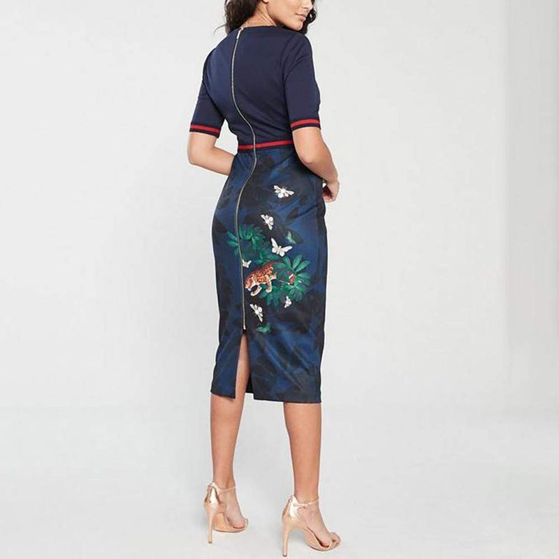 Ted Baker Yalila Houdiini Bodycon Sheath Dress RRP$315 - Zoom Boutique Store