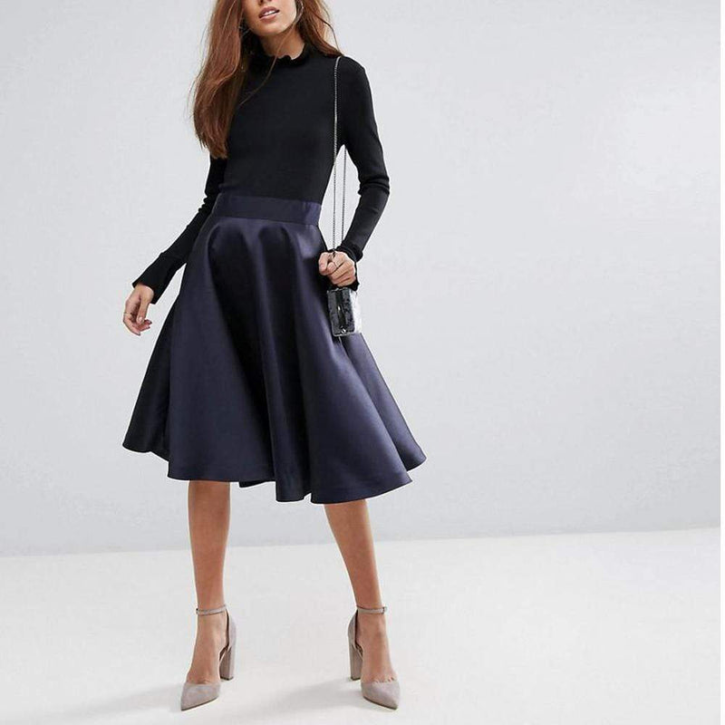 Ted Baker Zadi Knitted Bodice Frill Cuff Skater Dress $249 - Zoom Boutique Store