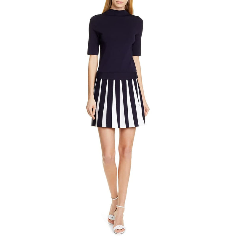 Ted Baker Hethia Pleat Knit Layered Short Sleeves Dress