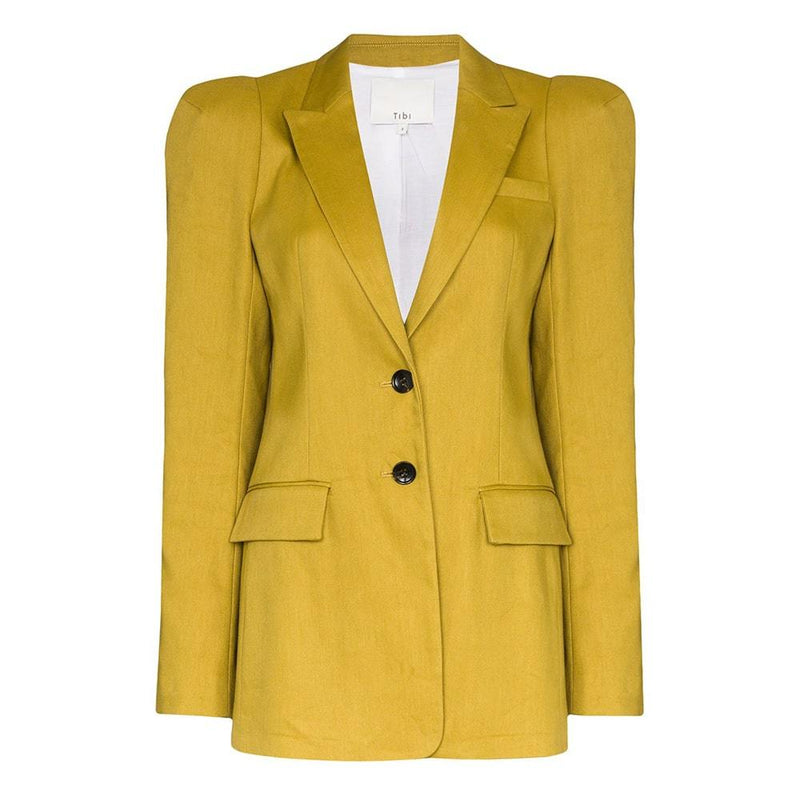 Tibi Bonded Wesson Linen Sculpted Sleeve Jacket Blazer S Zoom Boutique Store blazer Tibi Bonded Wesson Linen Sculpted Sleeve Jacket Blazer | Zoom Boutique