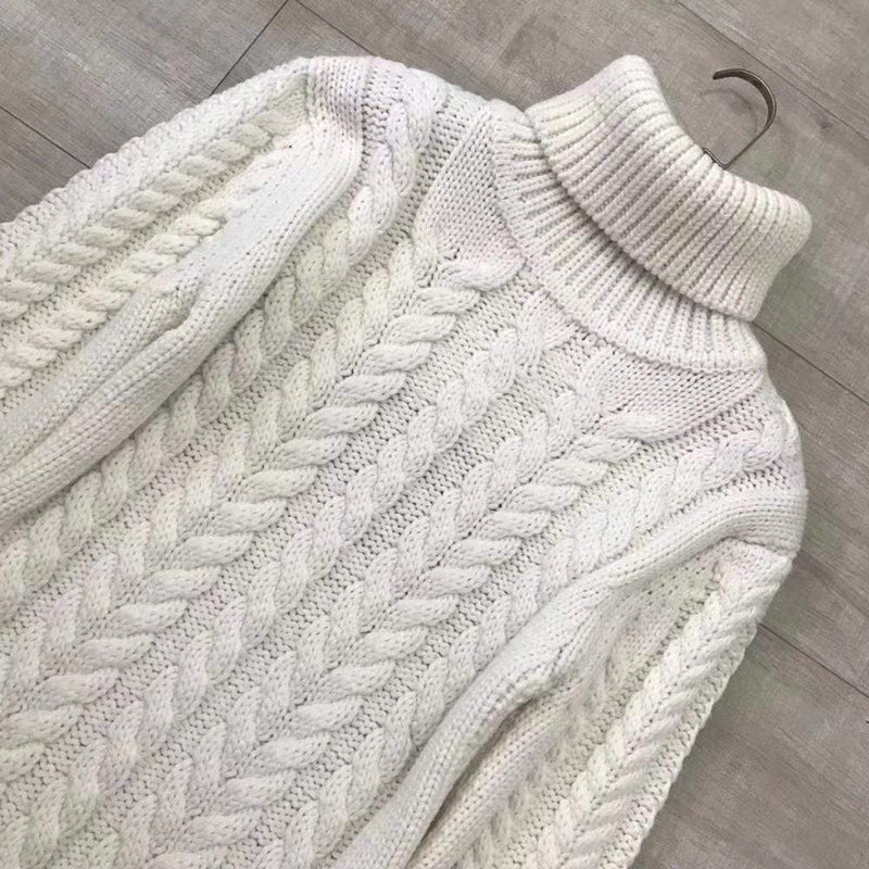 TIBI Open Back Strap Cable Knit Turtleneck Sweater RRP$850 - Zoom Boutique Store