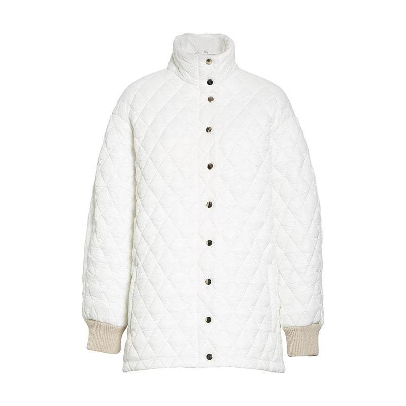 TIBI Soft Quilting Quilted Oversized Carcoat Jacket XXS Zoom Boutique Store coat TIBI Soft Quilting Quilted Oversized Carcoat Jacket | Zoom Boutique