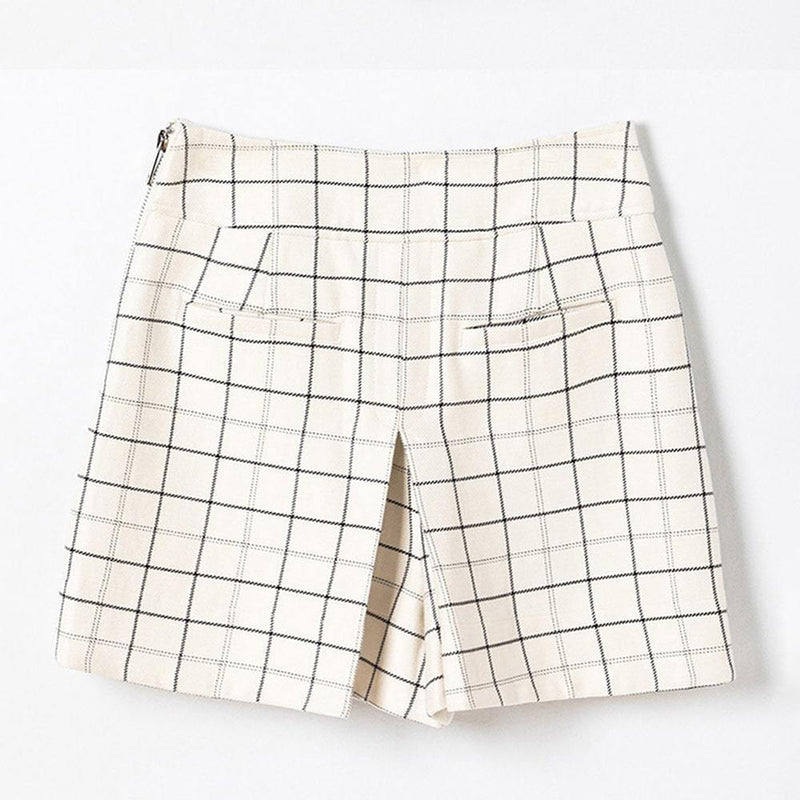 TIBI Windowpane Cargo Side Pockets Skort Shorts RRP$475 Zoom Boutique Store