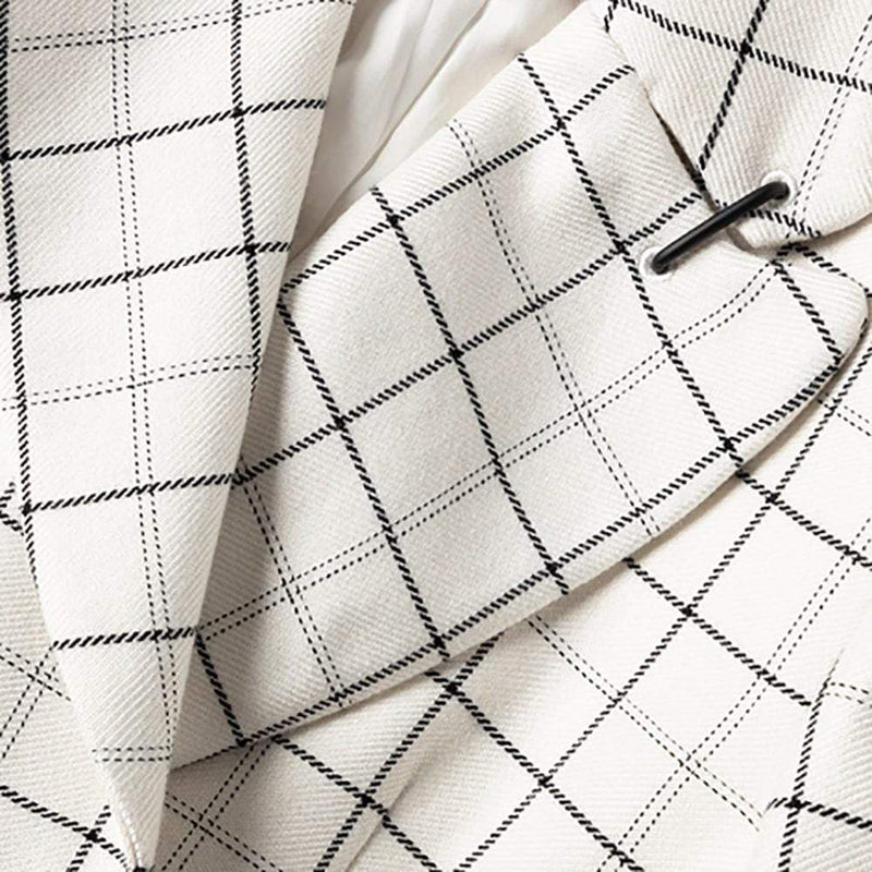 Tibi Windowpane Peaked Lapel Wool Blend Jacket Blazer RRP$995 Zoom Boutique Store blazer Tibi Windowpane Peaked Lapel Wool Blend Jacket Blazer | Zoom Boutique