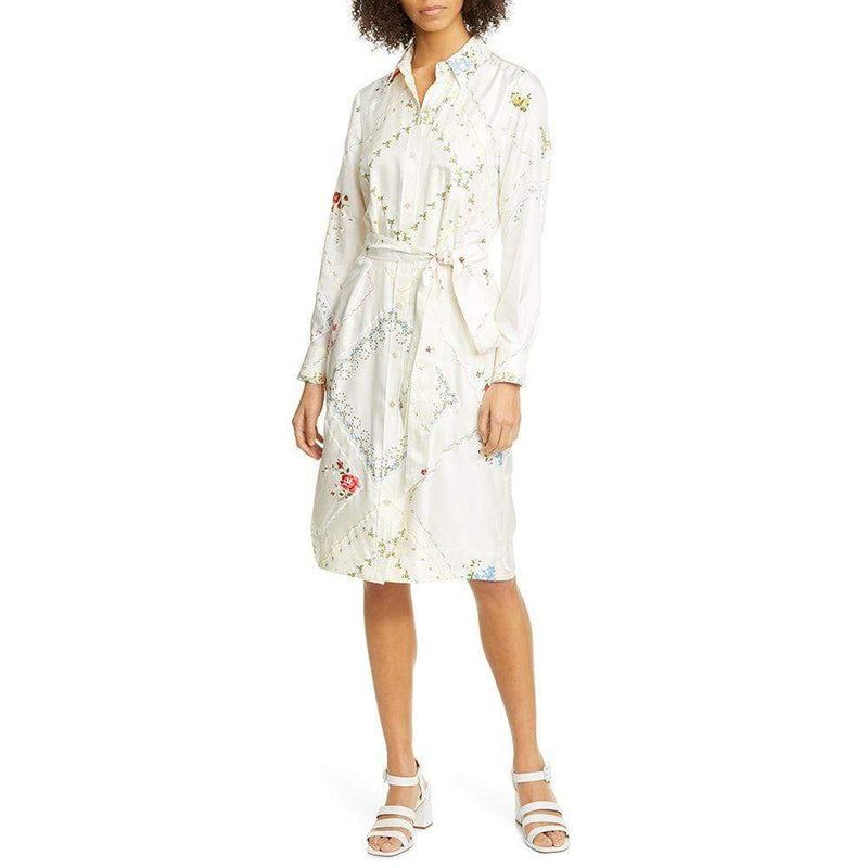 Tory Burch Afternoon Tea Handkerchief Printed Shirt Silk Dress Zoom Boutique Store dress Tory Burch Afternoon Tea Handkerchief Shirt Silk Dress | Zoom Boutique