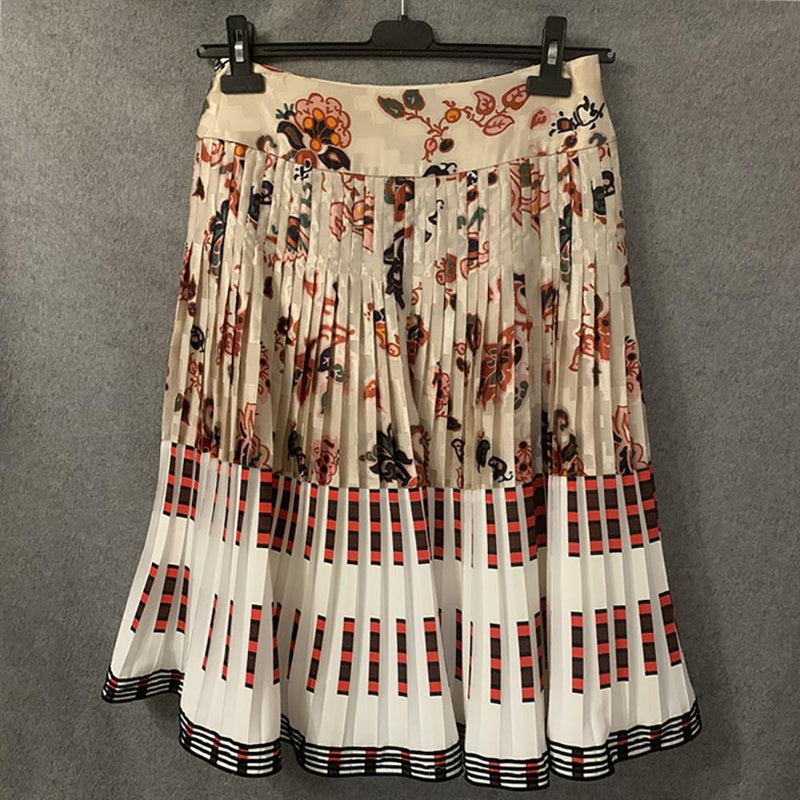 Tory Burch Floral High Waisted Knife Pleated Skirt Zoom Boutique Store skirt Tory Burch Floral High Waisted Knife Pleated Skirt | Zoom Boutique