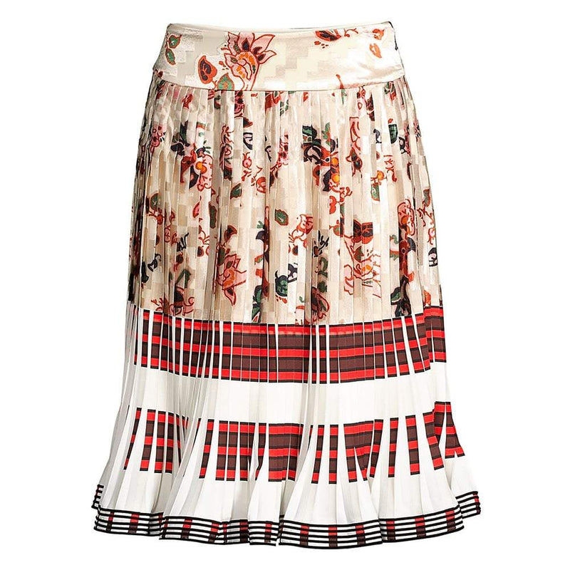 Tory Burch Floral High Waisted Knife Pleated Skirt US00 Zoom Boutique Store skirt Tory Burch Floral High Waisted Knife Pleated Skirt | Zoom Boutique