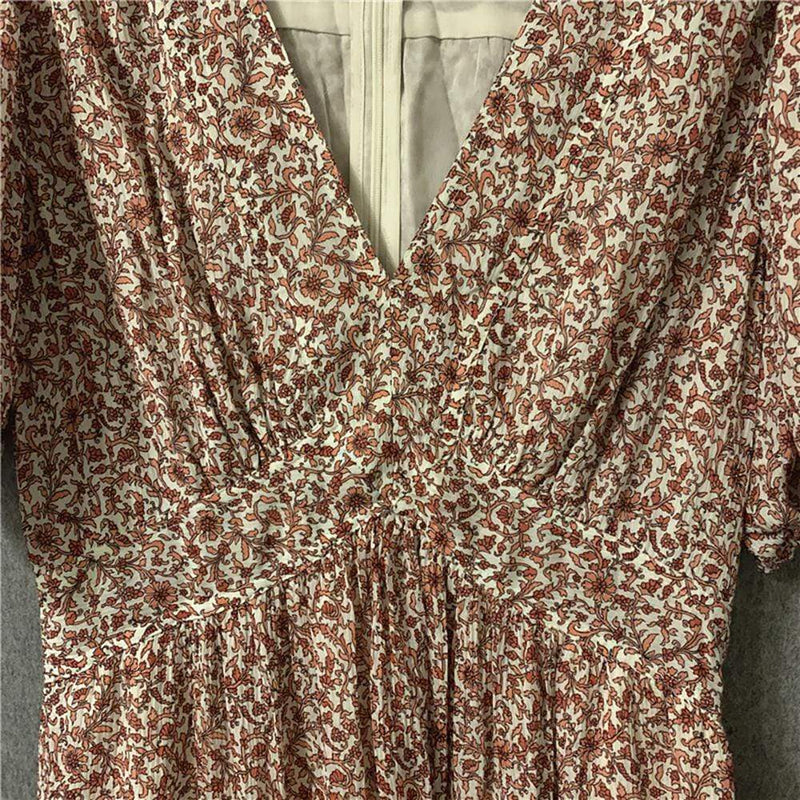 Tory Burch Floral V Neck Flared Midi Dress RRP$673 Zoom Boutique Store dress Tory Burch Floral V Neck Flared Midi Dress | Zoom Boutique