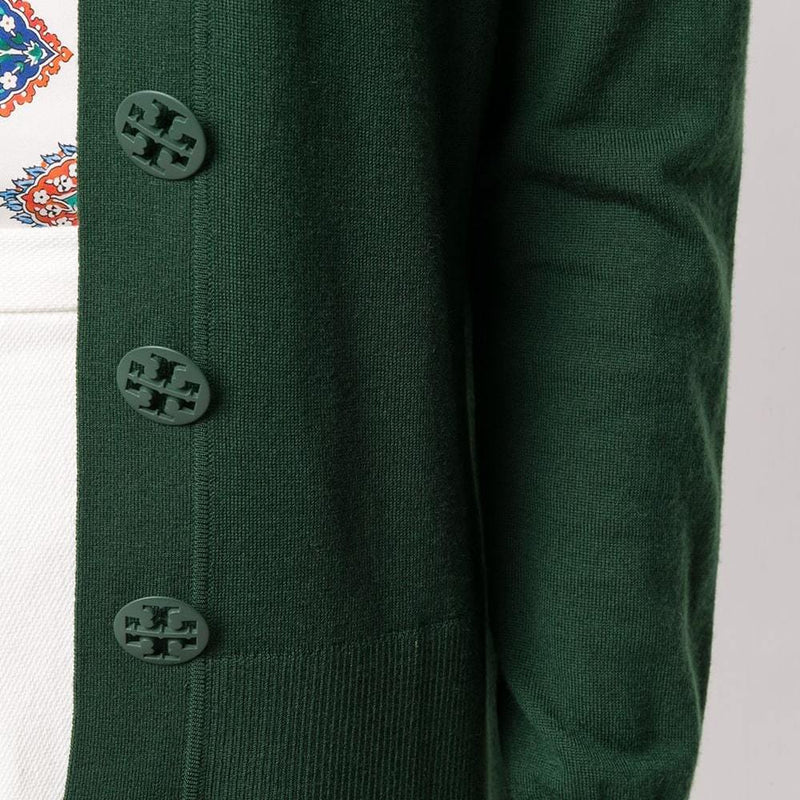Tory Burch Simone Button Front Merino Wool Top Cardigan Zoom Boutique Store cardigan Tory Burch Simone Button Front Merino Wool Top Cardigan| Zoom Boutique