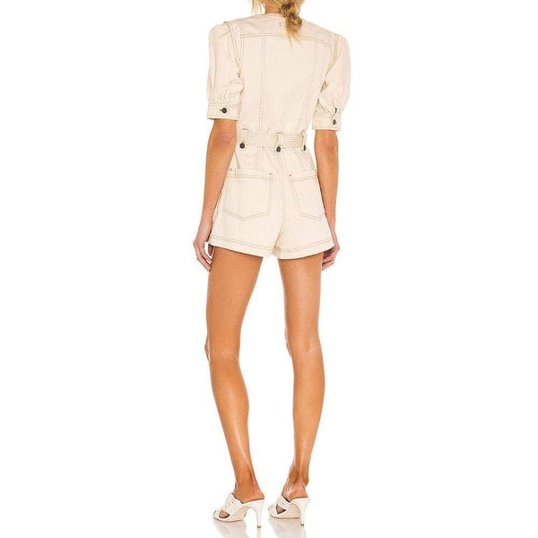 Ulla Johnson Carmine Cotton Blend Denim Playsuit Zoom Boutique Store playsuit Ulla Johnson Carmine Cotton Blend Denim Playsuit | Zoom Boutique