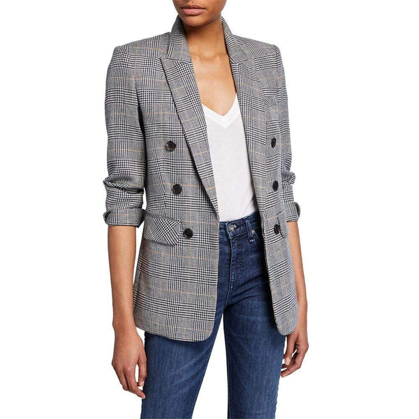 Veronica Beard Bexley Fuller Check Dickey Jacket RRP$695 - Zoom Boutique Store