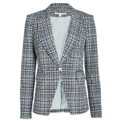 Veronica Bart Cutaway Tweed Dickey Jacke Blazer UVP $ 650 US0 Zoom Boutique Store Blazer Veronica Bart Cutaway Tweed Dickey Jacke Blazer | Zoom Boutique