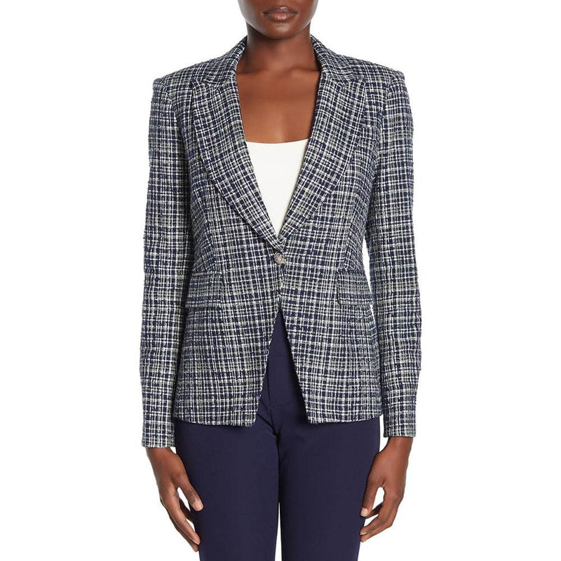 Veronica Beard Cutaway Tweed Dickey Jacket Blazer RRP$650 Zoom Boutique Store blazer Veronica Beard Cutaway Tweed Dickey Jacket Blazer | Zoom Boutique
