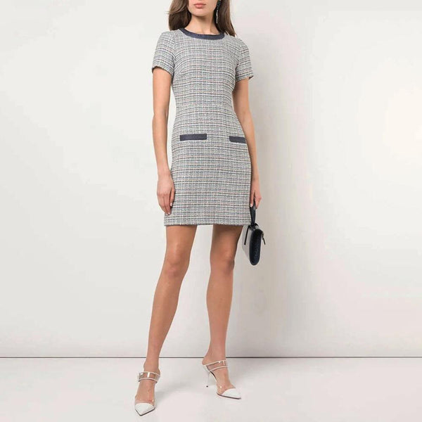 Veronica Beard Devani Tweed Short Sleeve Mini Dress Zoom Boutique Store dress Veronica Beard Devani Tweed Short Sleeve Mini Dress | Zoom Boutique