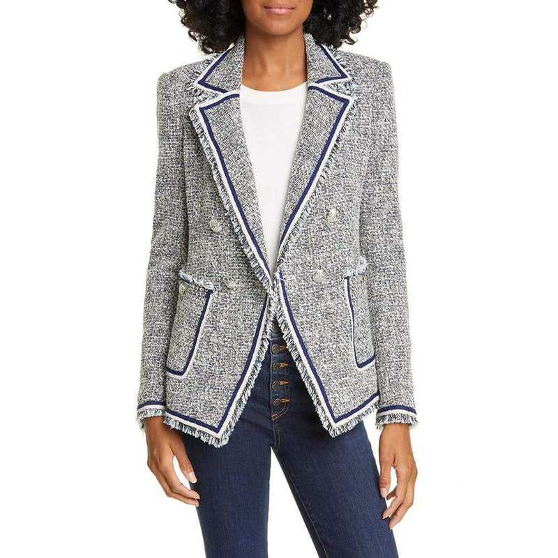 Veronica Beard Theron Double Breasted Tweed Blazer $650 - Zoom Boutique Store