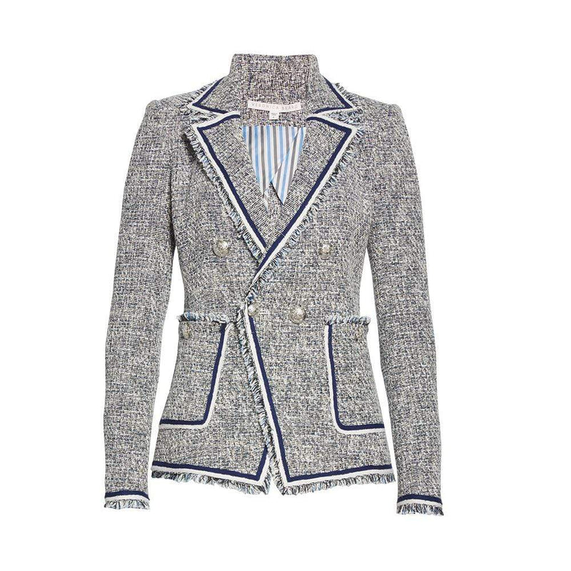 Veronica Beard Theron Double Breasted Tweed Blazer RRP$650 - Zoom Boutique Store