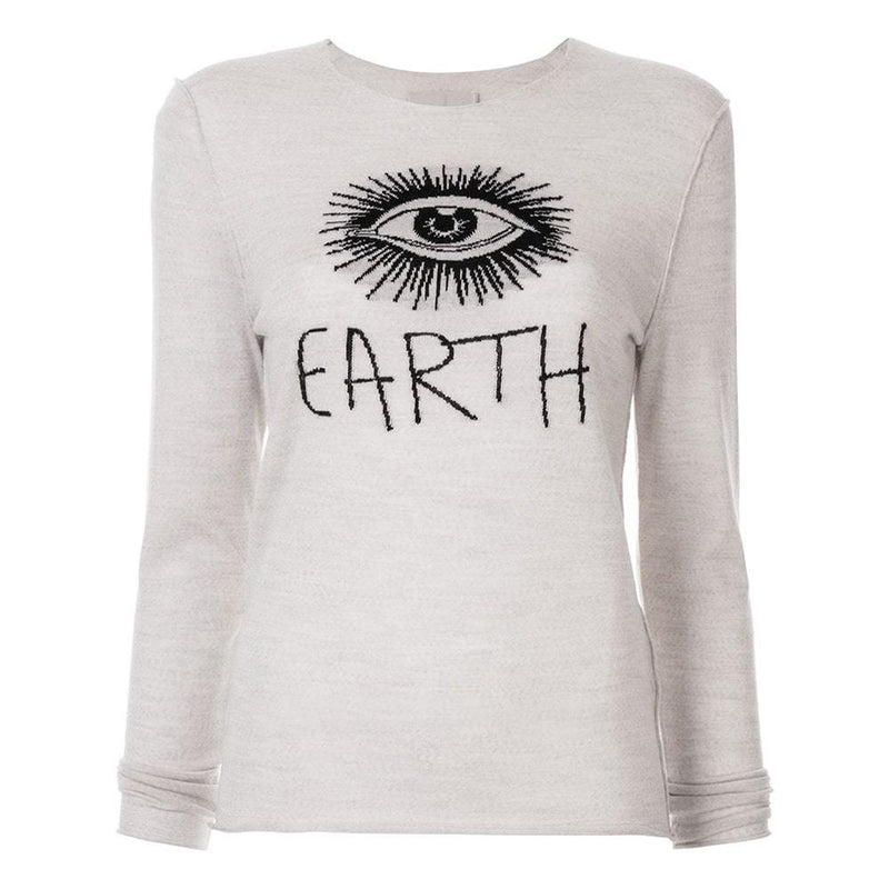 Zadig & Voltaire Gwendal Eye Embroidered Merino Wool Sweater RRP$228 XS Zoom Boutique Store sweater Zadig & Voltaire Gwendal Eye Embroidered Wool Sweater | Zoom Boutique