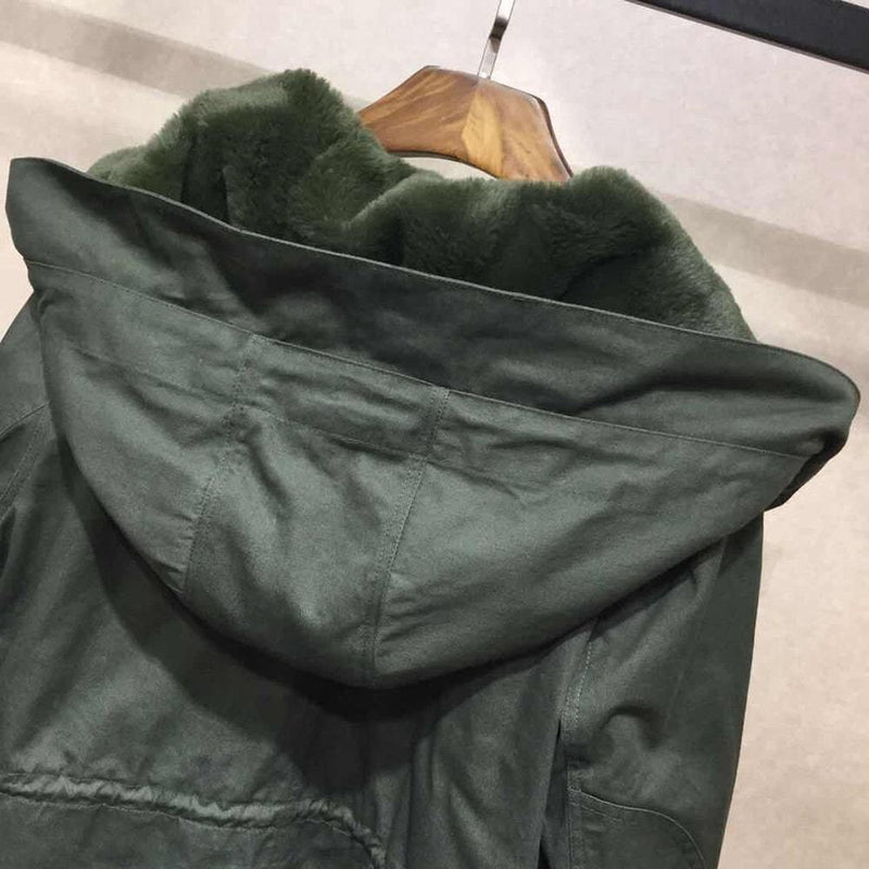 Zadig & Voltaire Kang Mil Removable Inner Hood Parka RRP$838 Zoom Boutique Store coat Zadig & Voltaire Kang Mil Removable Inner Hood Parka | Zoom Boutique