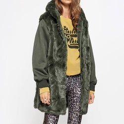 Zadig & Voltaire Kang Mil Abnehmbarer Innenhaube Parka UVP $ 838 Zoom Boutique Store Mantel Zadig & Voltaire Kang Mil Abnehmbarer Innenhaube Parka | Zoom Boutique