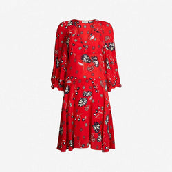 Zadig & Voltaire Remi Daisy Floral V Neck Silk Mini Dress XS Zoom Boutique Store dress Zadig & Voltaire Remi Daisy V Neck Silk Mini Dress | Zoom Boutique