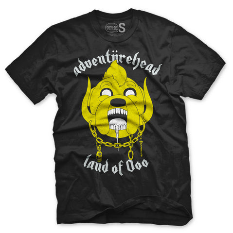ADVENTUREHEAD - Adventure Time x Motorhead mashup - UNISEX BLACK TEE